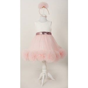 9022 Ponpon Elbise ürün görseli